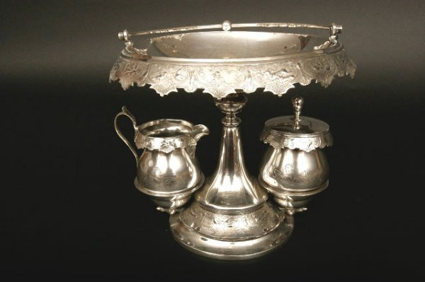 4: Victorian Silverplate Dessert Stand, Wilcox