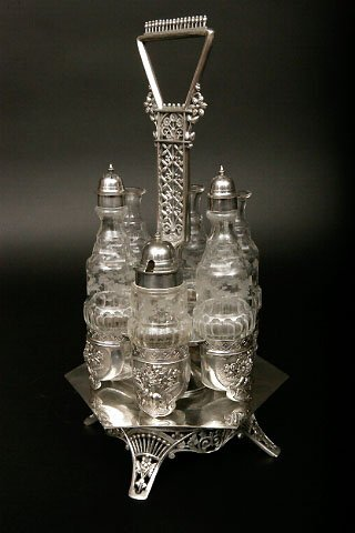 5: Victorian Silverplate Cruet Stand