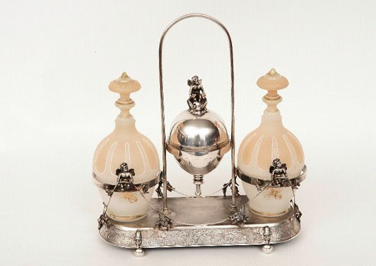 6: Victorian Silverplate Condiment Stand, Wilcox