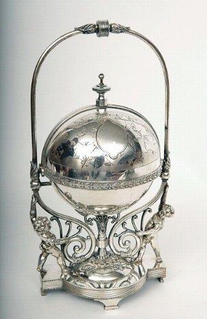 7: Victorian Silver bun warmer, Simpson Hall Miller