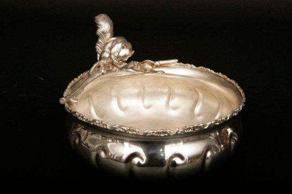 9: Victorian Silverplate Figural Squirrel Nut Dish