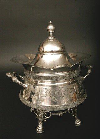 14: Victorian Silverplate Soup Tureen, Derby Silver Co