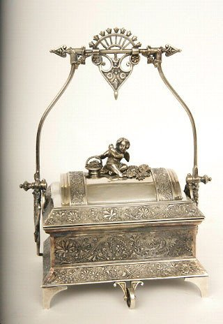 20: Victorian Silverplate Jewel Casque