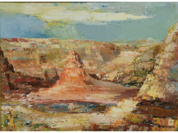 402: Maurice Bacon Painting, Grand Canyon