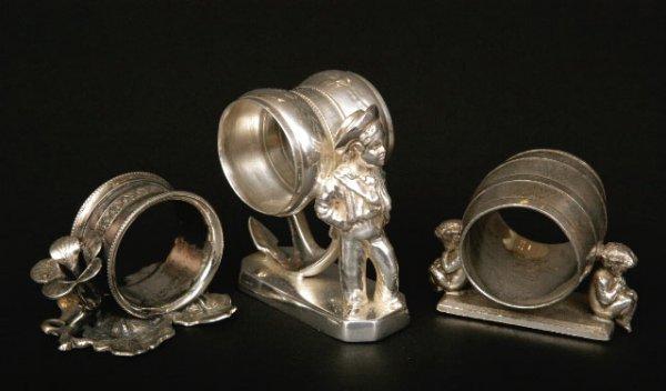 409: 3 Victorian Silveplate Napkin Rings
