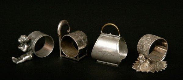 410: 4 Victorian Silverplate Napkin Rings