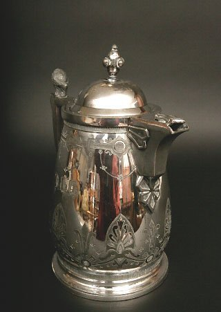 413: Victorian Silverplate Ice Water Pitcher