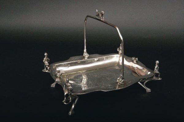 419: Wilcox Victorian Silverplate Basket