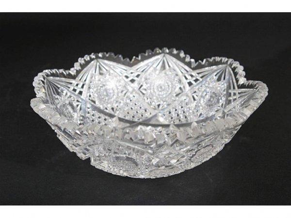 10: American Brilliant Cut Glass Bowl
