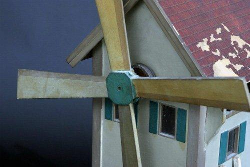 18: Charming Painted Folk Art Windmill Whirligig - 2