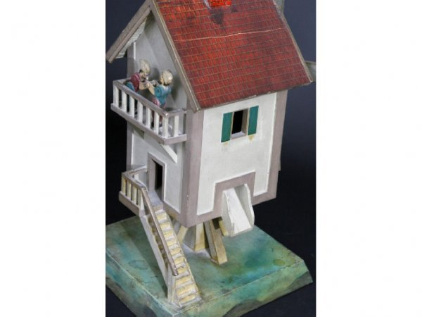 18: Charming Painted Folk Art Windmill Whirligig - 6