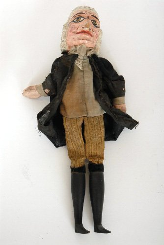 19: Antique Carved and Painted Wood Puppet