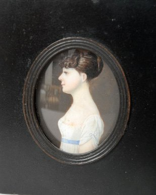 20: Miniature Portrait Painting on Ivory, early 19th c
