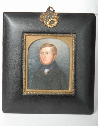 22: Miniature Portrait Painting on Ivory, British 19th