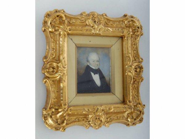 23: 19th c. Miniature Portrait Painting