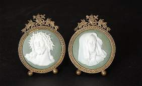 325: Pr. Victorian Jasperware Medallion