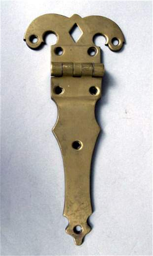 Large Brass Hinge, 19th c.