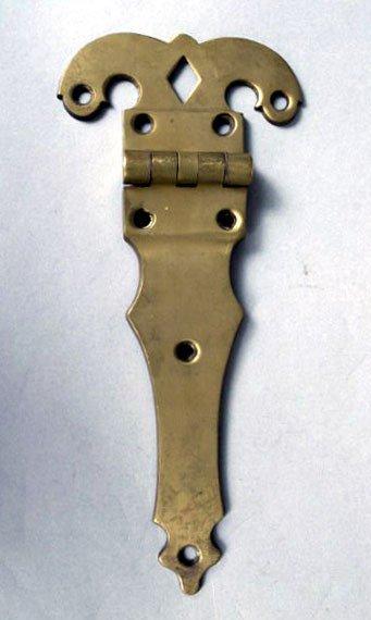 7: Large Brass Hinge, 19th c.