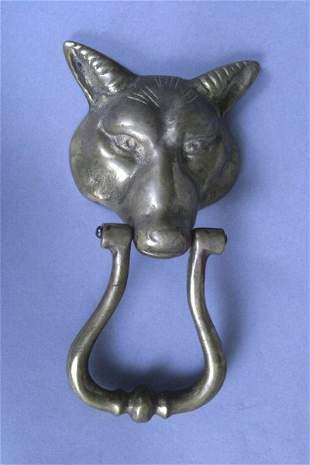 Fox Head Door Knocker, 19th c.