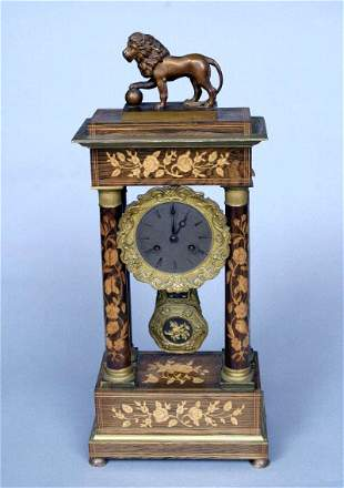 Continental Marquetry Clock