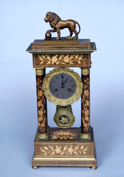 10: Continental Marquetry Clock