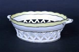 English Creamware Basket