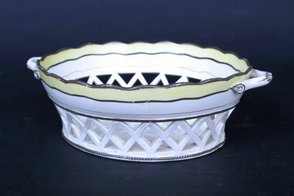 14: English Creamware Basket