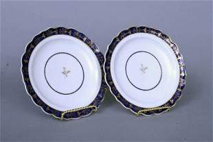 Pair of 18th c. Worcester Plates