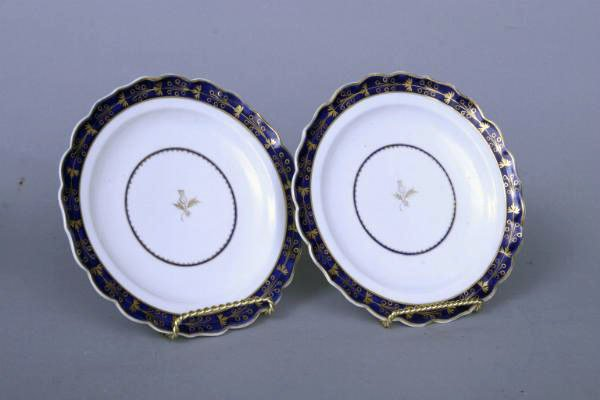 16: Pair of 18th c. Worcester Plates