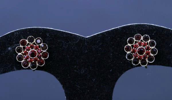 19: Pair of Garnet Earrings