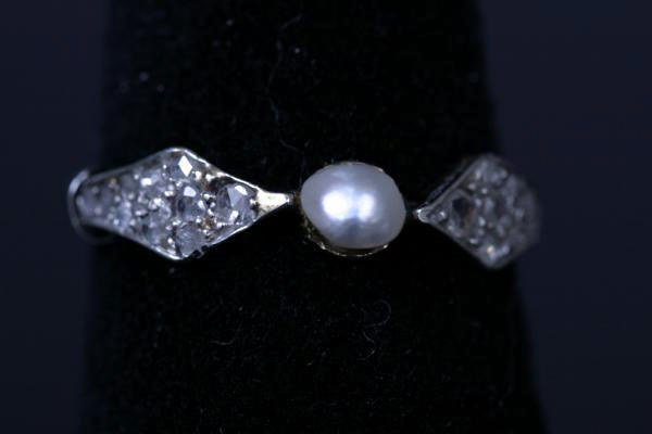 20: Pearl and Diamond Ring c. 1910