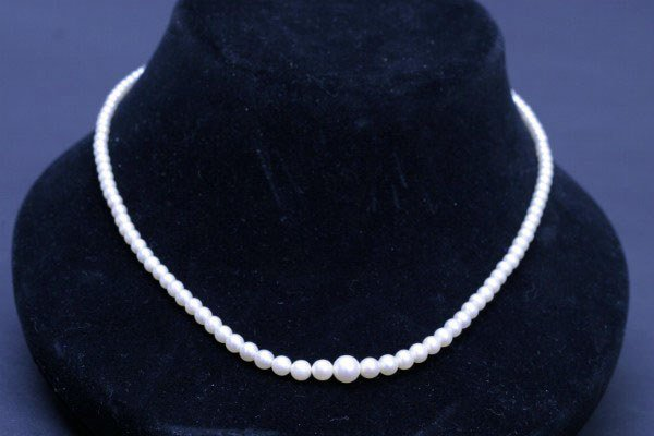"""21: 17"""" Cultured Pearl Necklace"""