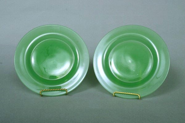 37: Two Steuben Jadeite Plates