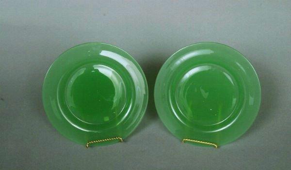 37: Two Steuben Jadeite Plates - 2
