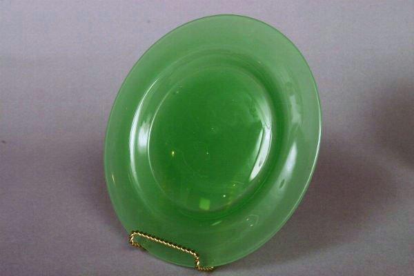 37: Two Steuben Jadeite Plates - 3