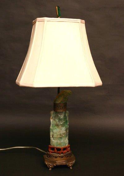 5: Carved Green Quartz Lamp