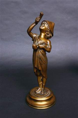After A. Grevin Sculpture,bronze
