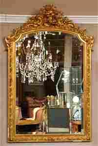 96: Napoleon III Gilt Hall Mirror, 19th c.