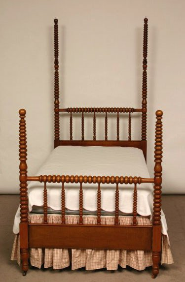 100: Pair of Maple Jenny Lind Twin Beds - 4