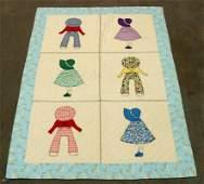 281 Vintage Bonnet Babies Crib Quilt