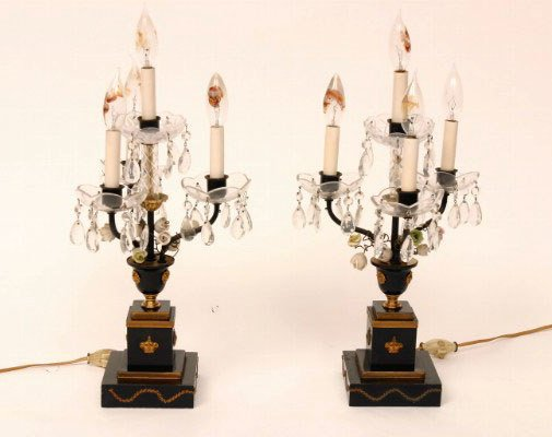 14A: Pair of Empire Style Lamps