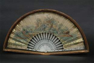 Finely Painted Antique Fan