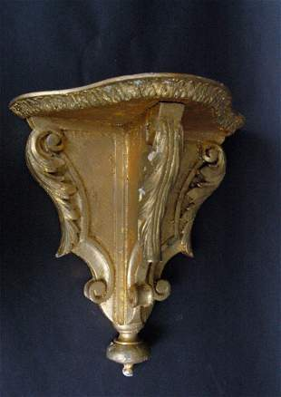 Carved and Gilt Wall Bracket