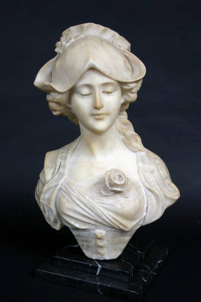 17: Italian Marble Bust, A. Cipriani Bust of a Lady