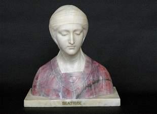 Marble Beatrice Sculpture Prof. G. Besji