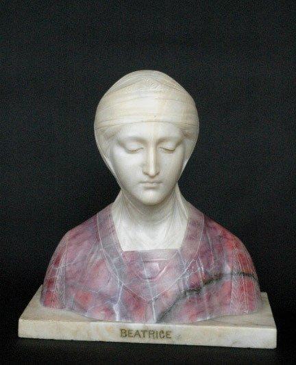 19: Marble Beatrice Sculpture Prof. G. Besji - 2