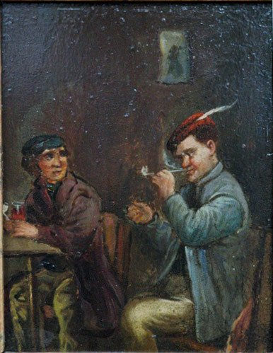 224: 19th c. School Tavern Painting