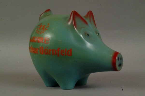9: Vintage Continental Piggy Bank