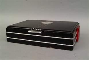 Deco Black Lacquer Box