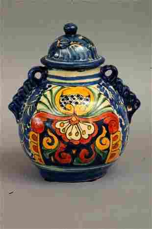 Mexican Talavera Jar, 20thc.
